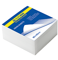 Блок бумаги для заметок 80х80х50 мм, белый, склеенный