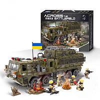 """Конструктор """"Тяжёлый военный пехотный грузовик"""" 1377 деталей"""