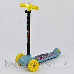 Самокат детский трехколесный Best Scooter, MAXI с фарой светящимися колесами бирюзовый деткам от 3 лет