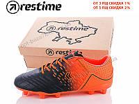 Футбольная обувь мужская Restime DMO19236-2 black-r.orange (41-45) - купить оптом на 7км в одессе