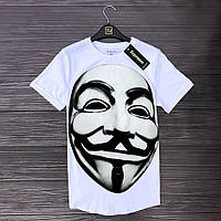 Мужская Белая Футболка Supreem Vendetta 100% Хлопок Летние Футболки Мужские Белые Суприм Вендетта
