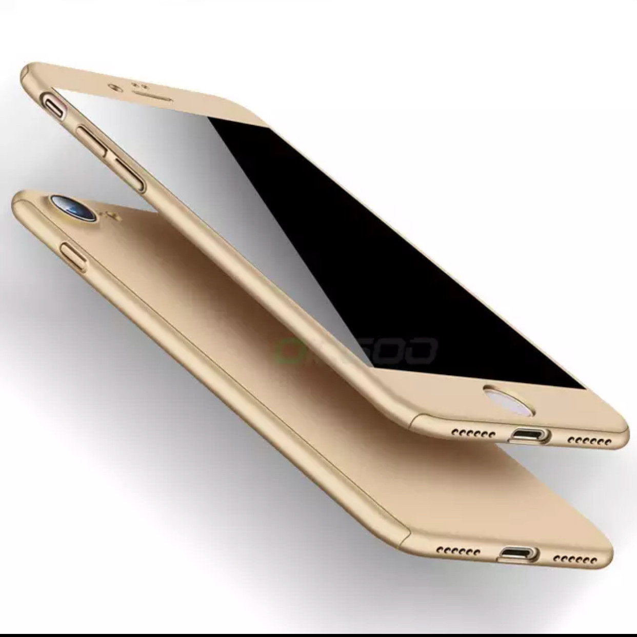 Чехол 360° для Iphone 7/Iphone 8 gold + стекло