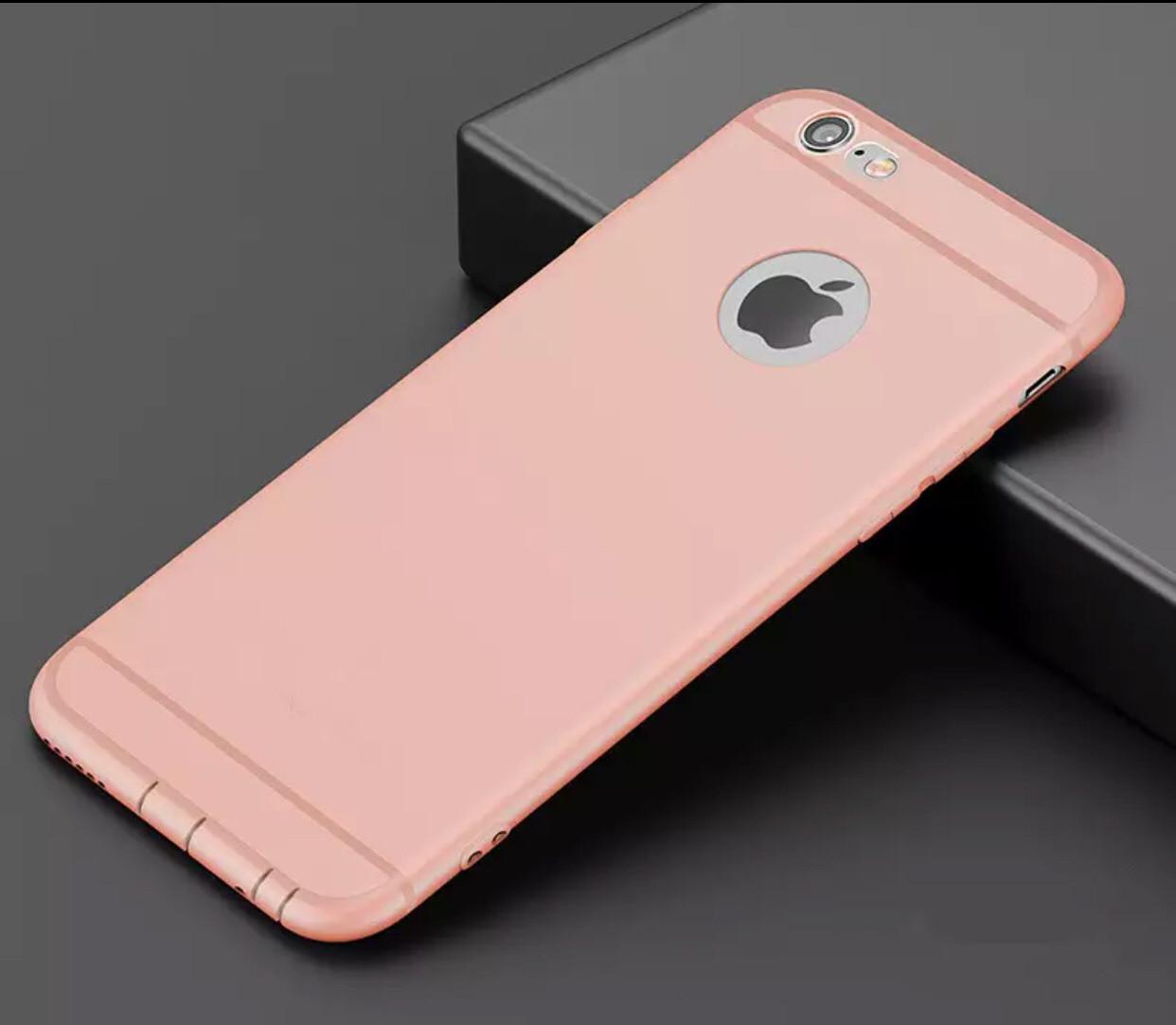 Силиконовый ультратонкий чехол для Iphone 7/8 pink