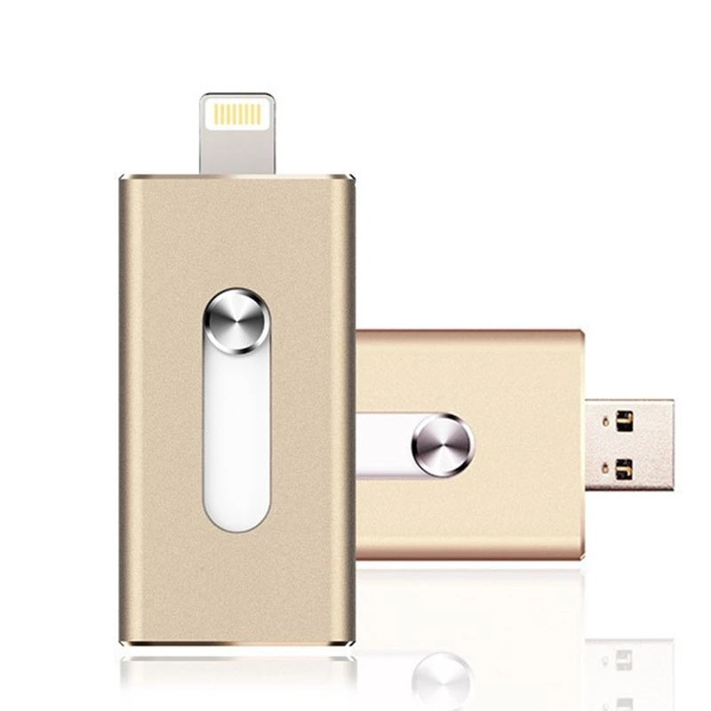 Usb flash/флешка 32 Gb для Iphone золотая