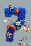 Цифра семь из воздушных шаров