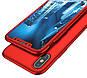 Чехол 360  для IPhone X/IPhone XS red Противоударный Ультратонкий +стекло в комплекте, фото 3