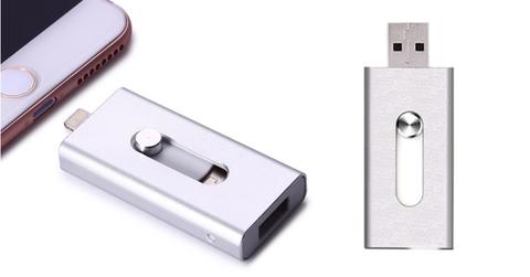 Usb flash/флешка 32 Gb для Iphone X/XS/X max серебро