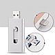 Usb flash/флешка 32 Gb для Iphone X/XS/X max серебро, фото 2