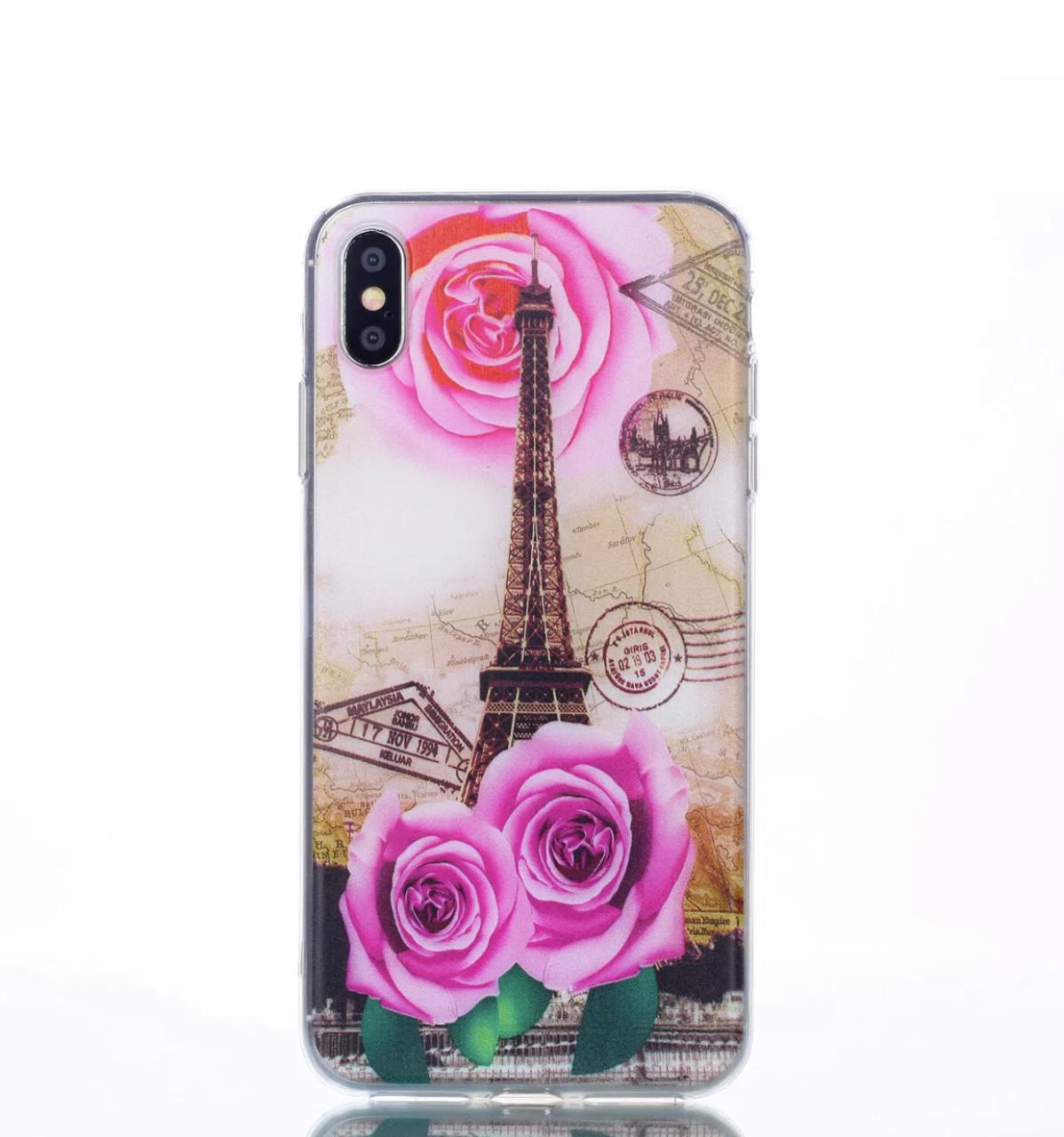 чехол IPhone X/Iphone XR Силиконовый  Paris