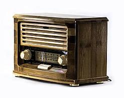 """Ретро проигрыватель """"Радио Бамбук"""" (радио приемник AM/FM, Bluetooth, AUX)"""