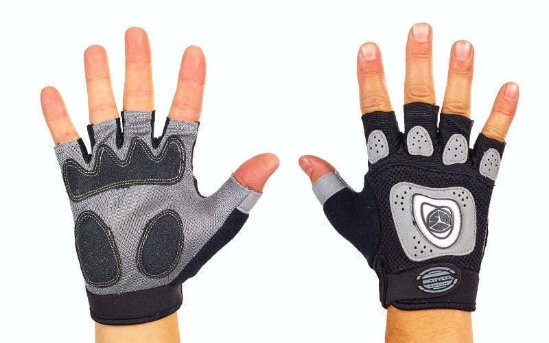 Вело-мото перчатки текстильные SCOYCO BG06 (открытые пальцы, р-р S-XL, цвет в ассорт)