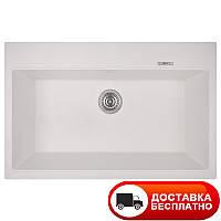 Гранитная белая мойка Apell Pietra Plus PTPL780GW TOTAL WHITE 78*51