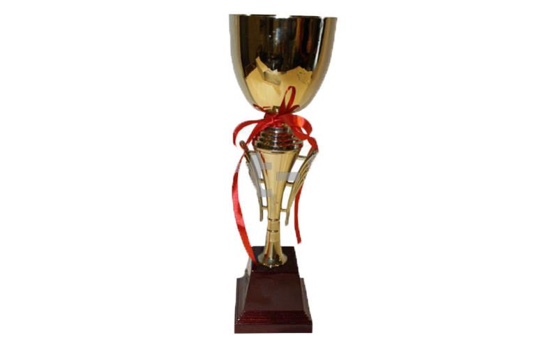Кубок C-403 (металл, пластик, высота 31,5см, чашиа 10,3см, золото)
