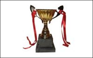 Кубок T139C (металл, пластик, h-18см, d чаши-12,5см, золото)