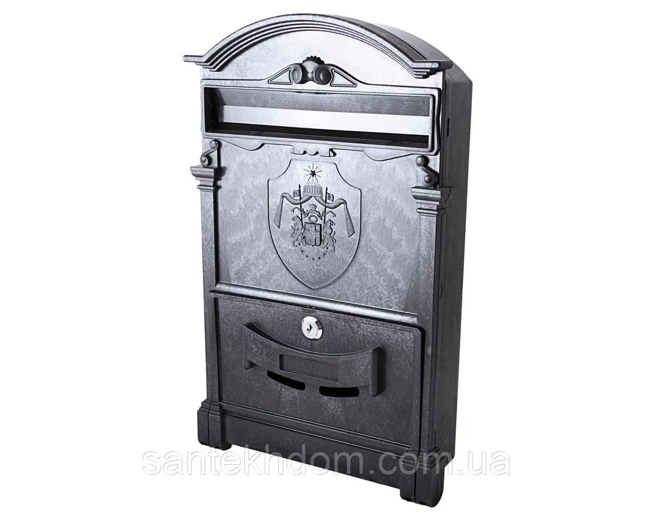 Почтовый ящик цвет черный с почтовым гербом Англии 18 века