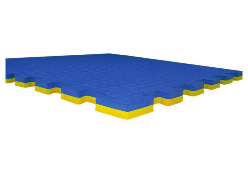 Татами высокого качества /доянг, корт/ сине-желтое толщина 2,5 см (жесткое)
