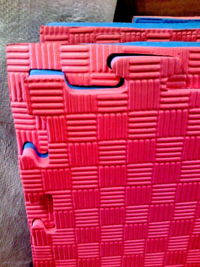 Татами /доянг, корт/ толщина 2,5 см (мягкий) Сине-красный