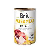 Brit (Брит) Pate & Meat Dog Chicken. Мясной паштет с целыми кусочками курицы и говядины для собак