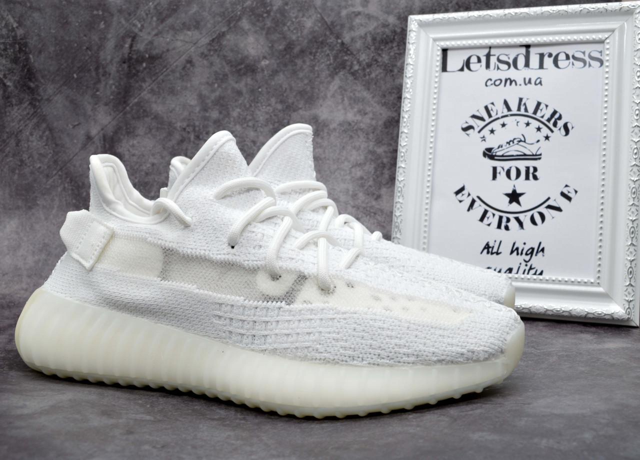 ✅ Мужские кроссовки Adidas Yeezy Boost 350 V2 White Лицензия Адидас изи буст 350 белые