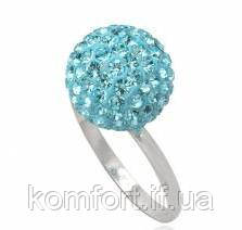 Кольцо TN637. Серебро 925. Swarovski crystals, размер 18