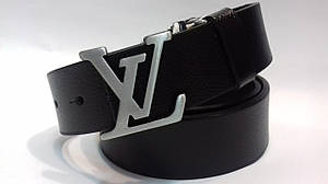 Кожаный Ремень пояс Louis Vuitton Silver (реплика Луи Витон)