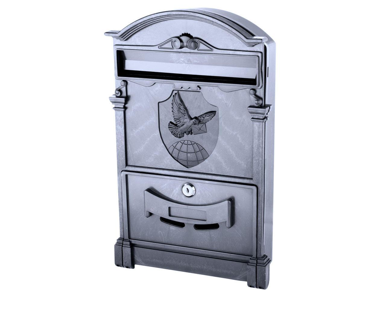 Поштова скринька VITA колір чорний Герб Голуб