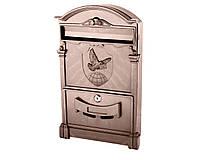 Почтовый ящик VITA цвет коричневый Герб Голубь, фото 1
