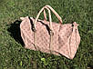Сумка дорожная Louis Vuitton LV 50 см pink (реплика) ручная кладь, фото 4