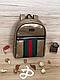 Рюкзак  школьный городской портфель Гучи (реплика люкс) gold, фото 2