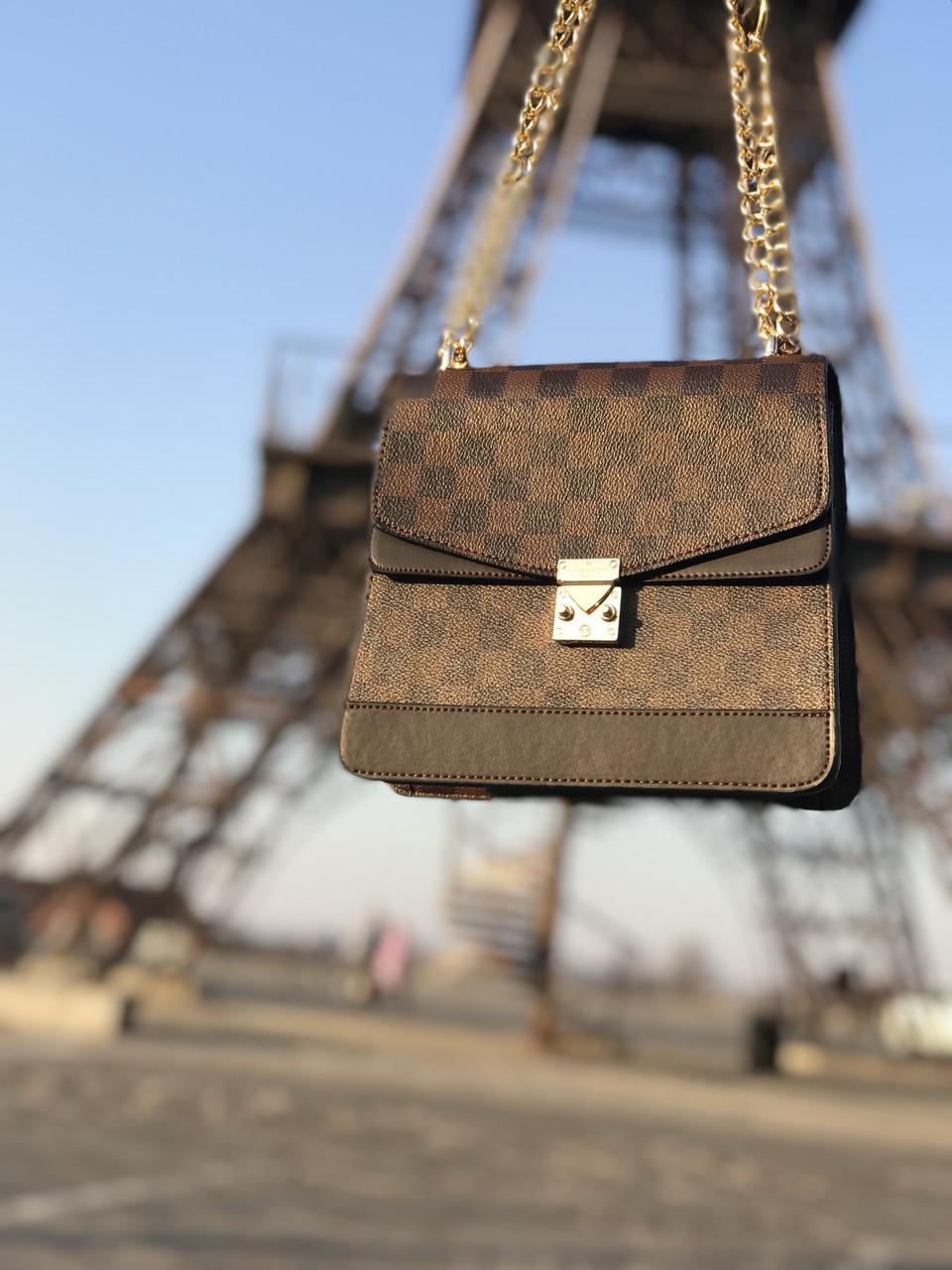0921237e608 Сумка женская Louis Vuitton LV (реплика люкс) mini brown