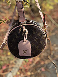 Сумка клатч круглая  Louis Vuitton LV (реплика луи витон)