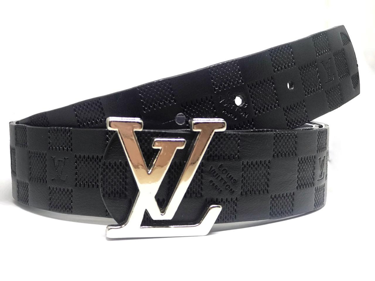 Ремень Louis Vuitton Space Black (реплика Луи Витон)