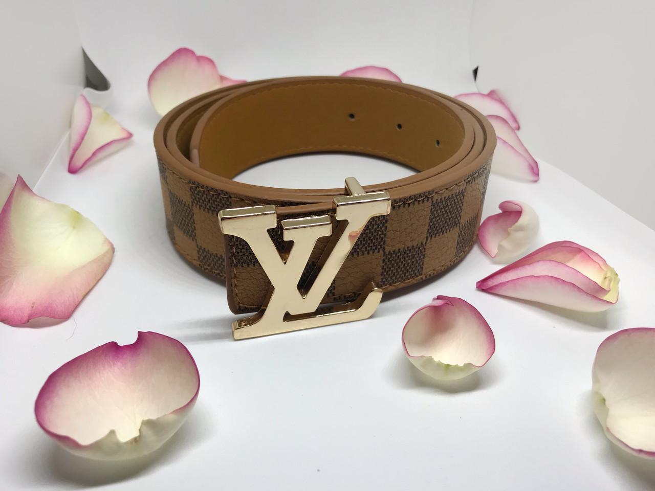 Ремень Louis Vuitton коричневый ( реплика луи витон)