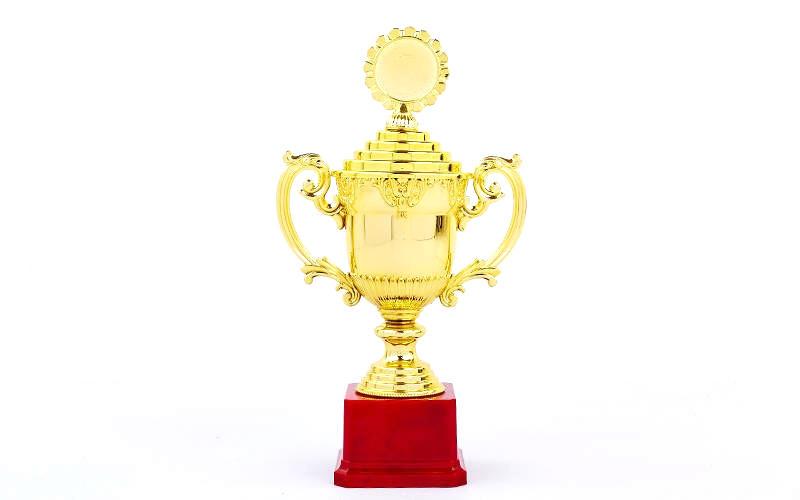 Кубок спортивный с ручками, крышкой и местом под жетон 29,5 см