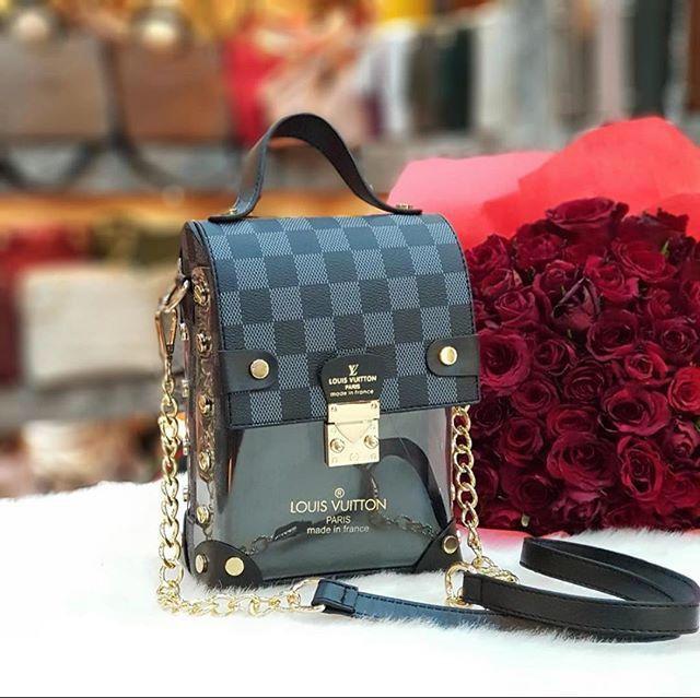 Сумка клатч Louis Vuitton LV (реплика  луи витон) black