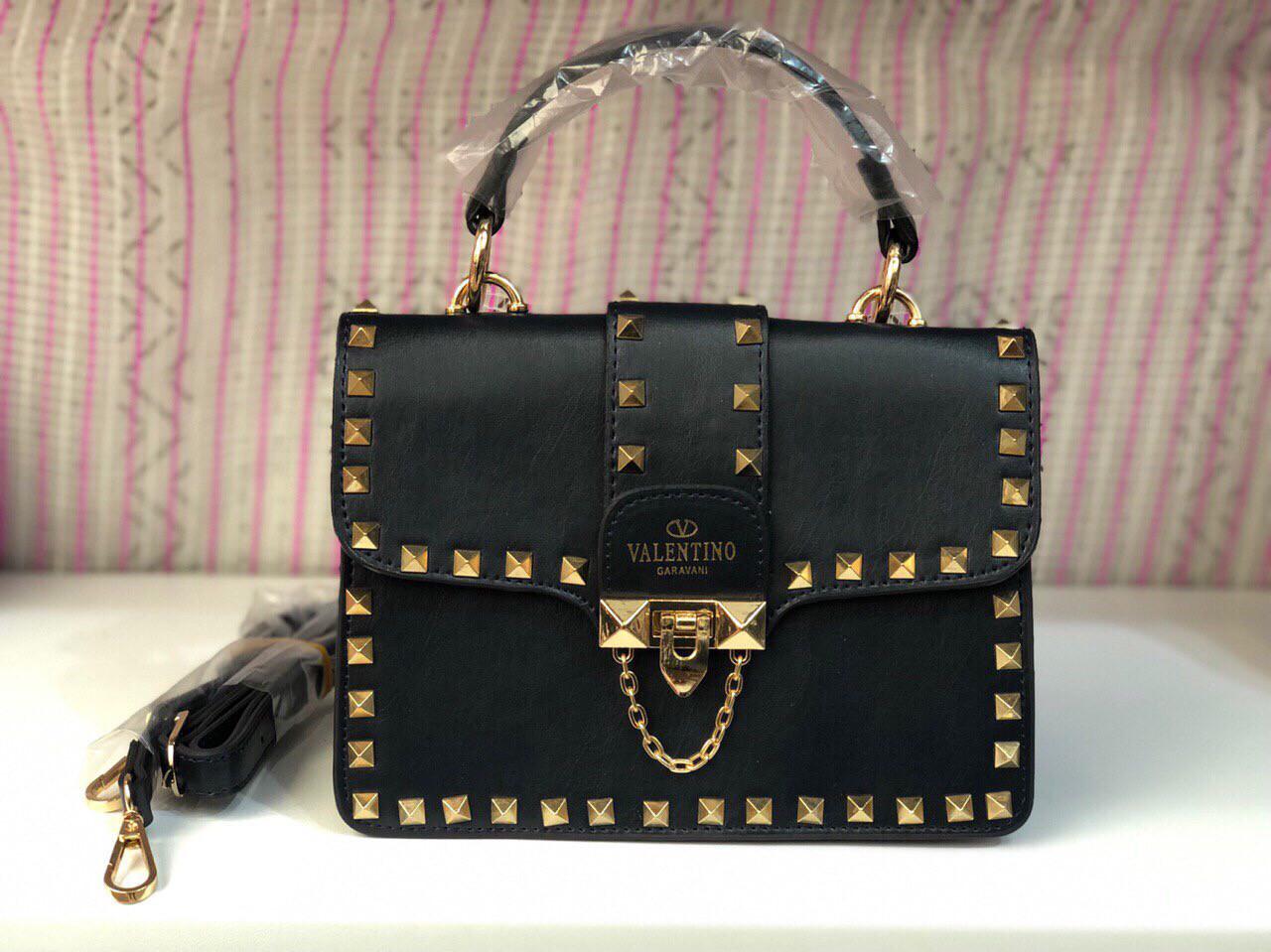 Сумка женская клатч Valentino (реплика люкс) mini black