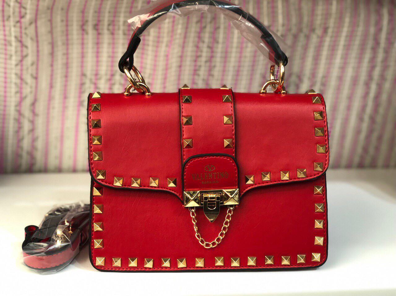 Сумка женская клатч Valentino (реплика люкс) mini red