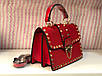 Сумка женская клатч Valentino (реплика люкс) mini red, фото 2