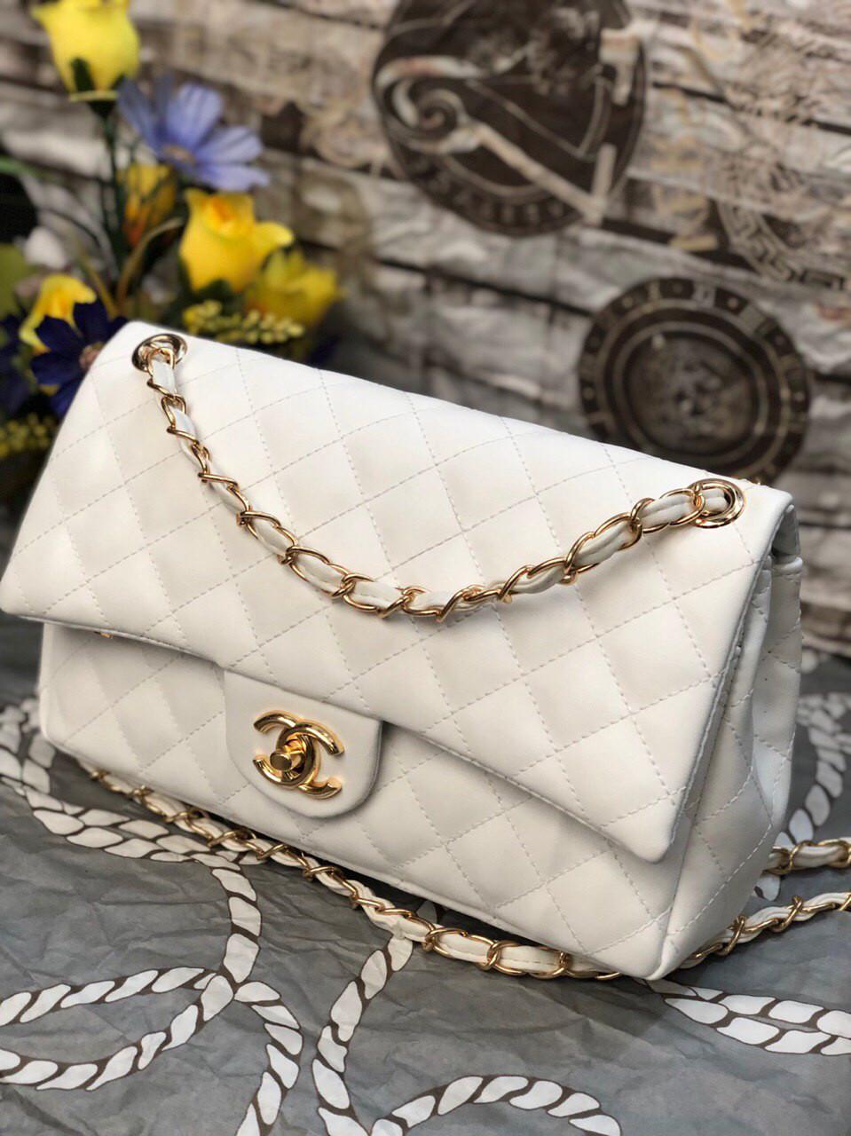 Сумка женская Chanel Шанель реплика саквояж, white