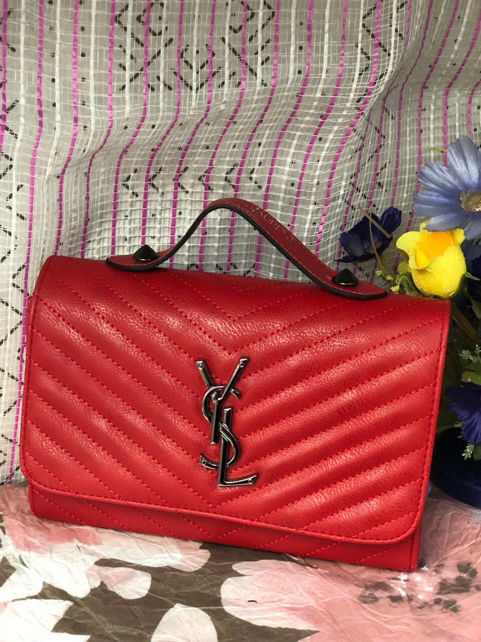 Сумка женская Yves Sant LORAN реплика, red