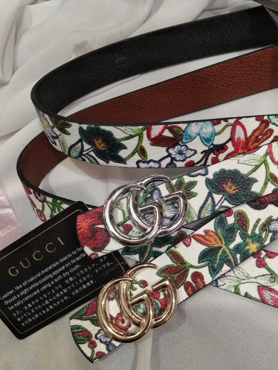 Ремень Gucci двусторонний  (реплика Гучи) color 2