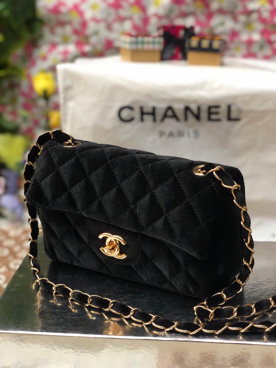 Сумка женская Chanel Шанель реплика велюр