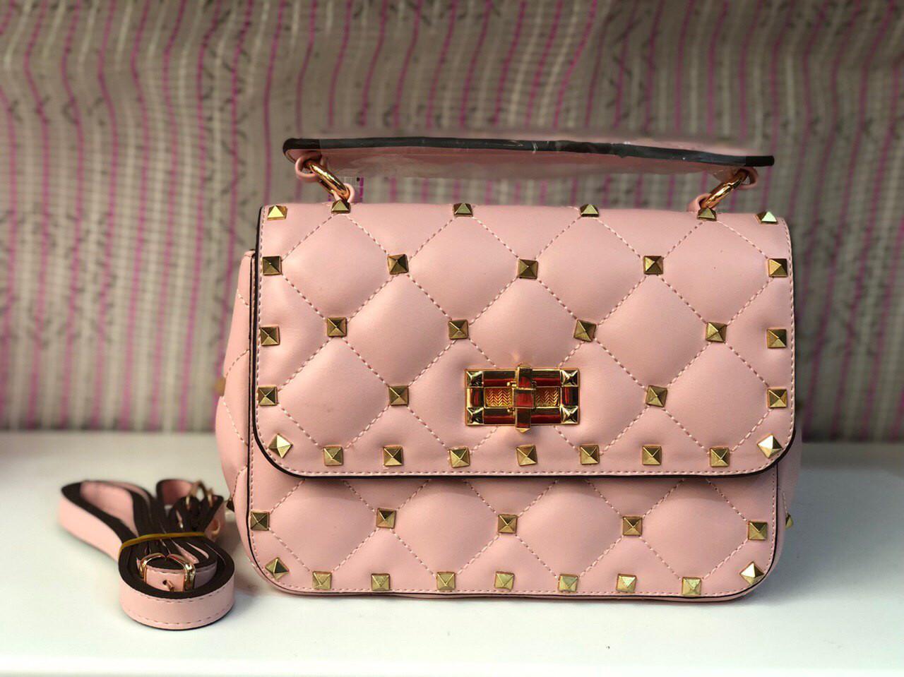 Сумка женская Valentino (реплика люкс) pink