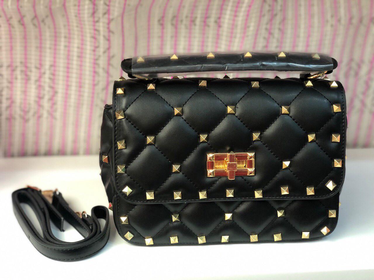 Сумка женская Valentino (реплика люкс) black