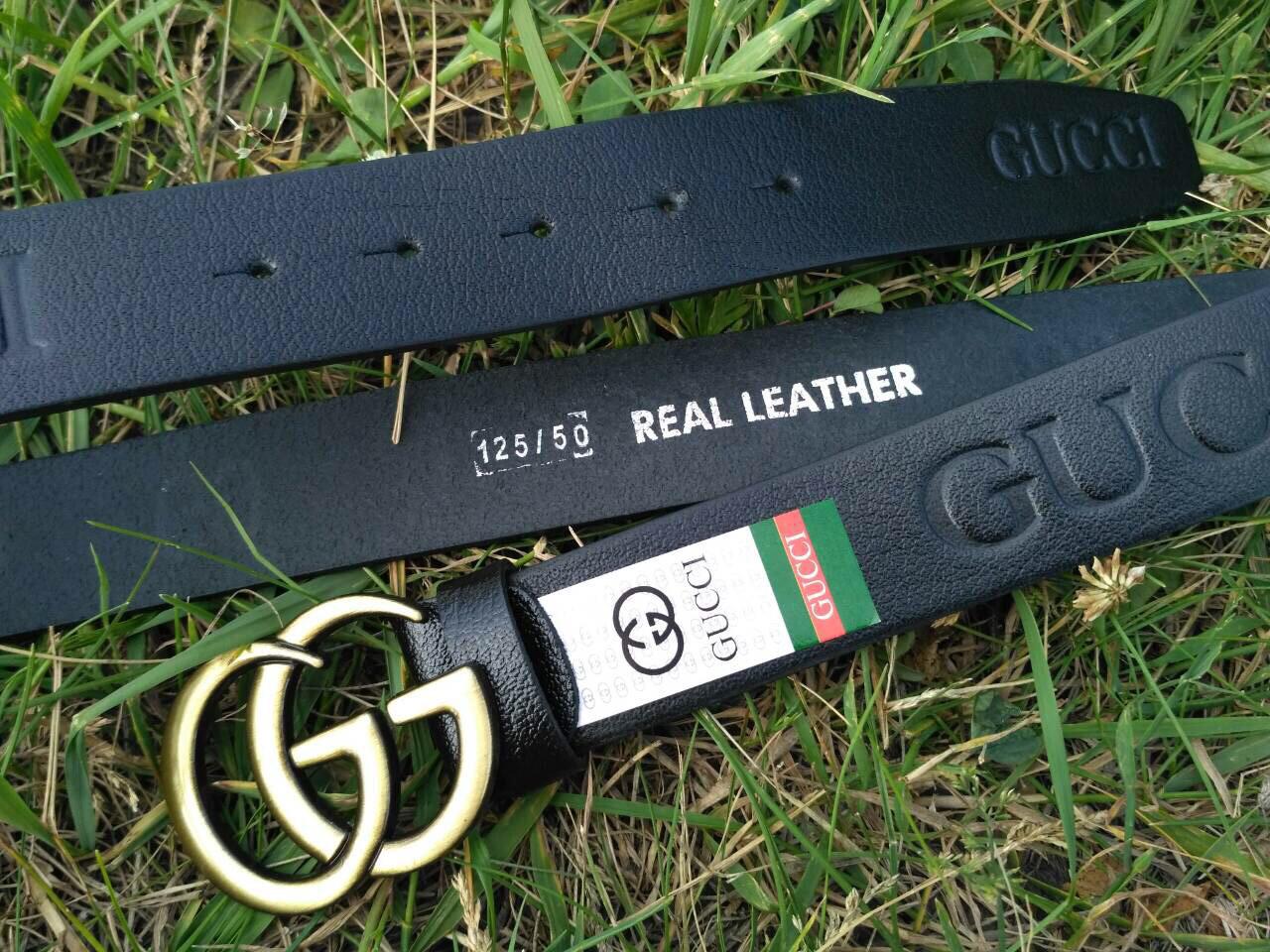 Кожаный Ремень пояс Gucci  (реплика Гучи)
