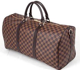 Дорожная - спортивная сумка Louis Vuitton реплика LV  Monogram Keepal Brown