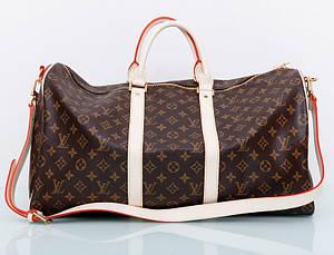 Дорожная Сумка женская Louis Vuitton LV реплика коричневая спортивная