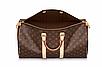 Дорожная Сумка женская Louis Vuitton LV реплика коричневая спортивная, фото 5