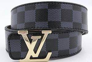 Ремень Louis Vuitton Black (реплика луи витон)