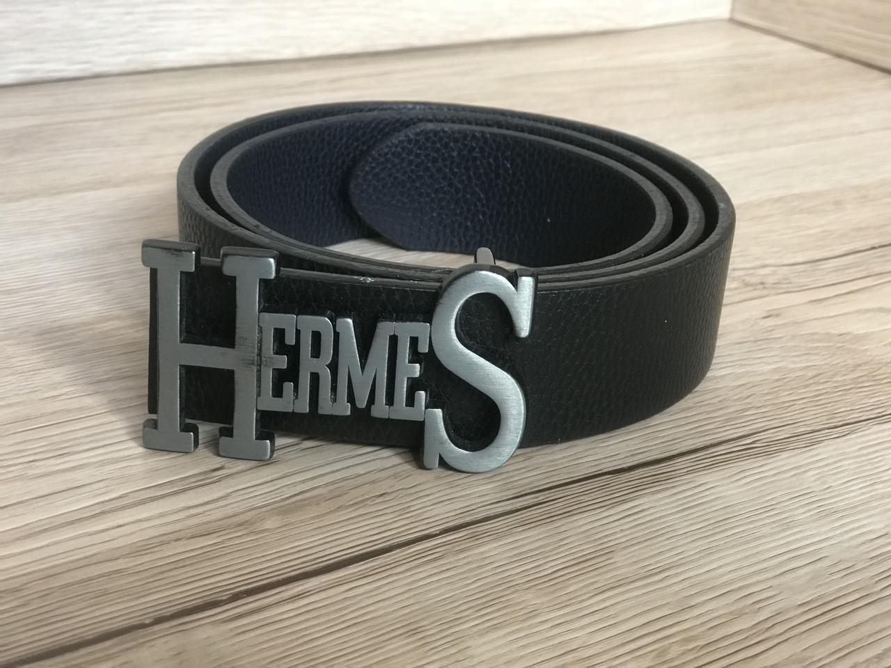 Ремень мужской Hermes Black  (реплика)